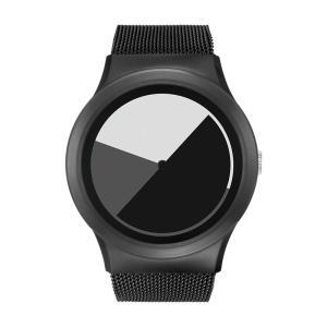 ZEROO ゼロ COLORED TIME 電池式クォーツ 腕時計 [W01003B03SM03] グレイ デザインウォッチ おしゃれ時計|hachigoten