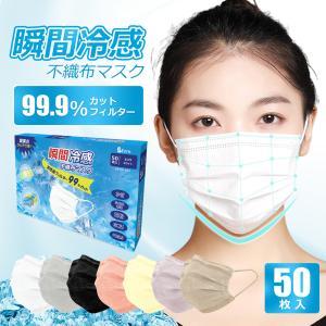 瞬間冷感不織布マスク 接触冷感 日本製に負けない品質 夏用マスク 大人用使い捨て 14枚入 ひんやり 三層構造 プリーツ 清潔 飛沫対策 花粉対策 ハチイロマスクの画像