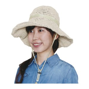 ガーデニング ハット レディース 虫除け uv 帽子 おしゃれ 服装 夏 麦わら 綿100% 日よけ つば広 UV hachipro
