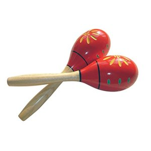 GONKISS 赤いマラカス マラカス Maracas 木製 楽器 2本組の画像