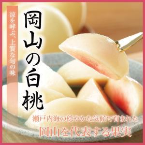 果物王国・岡山生まれの甘くて美味しい白桃産地直送でをお届けします。  発送時期に応じてお客様のお好み...