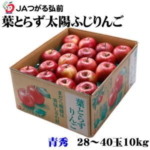 りんご 葉とらず太陽ふじりんご  青森県産 JAつがる弘前  糖度12度以上 青秀 28〜40玉  ...