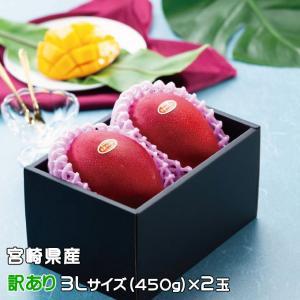 マンゴー みやざき完熟マンゴー 風のいたずら 訳あり 3Lサイズ×2玉 宮崎県産 ギフト 母の日 お...