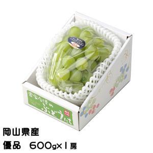 ぶどう シャインマスカット 晴王 優品 600g×1房 岡山県産 JAおかやま 葡萄 ブドウ お中元
