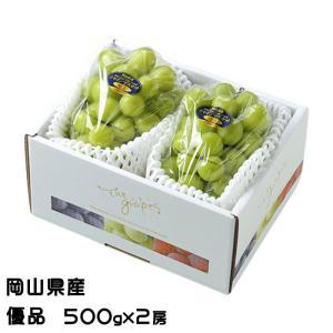 ぶどう シャインマスカット 晴王 優品 500g×2房 岡山県産 JAおかやま 葡萄 ブドウ お中元