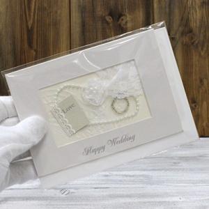 グリーティングカード 結婚祝い用 手書き用見開きグリーティングカード  haciendaiyashi