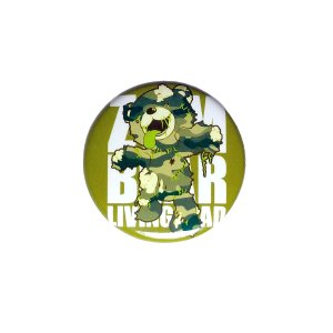 ゾンベアーグッズ ゾンベアー 迷彩グリーン 缶バッチ(小)直径31mm|haciendaiyashi