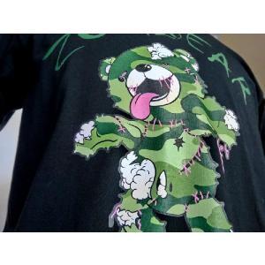 ゾンベアーグッズ ゾンベアーTシャツ 迷彩グリーン ブラックご当地 北海道限定|haciendaiyashi