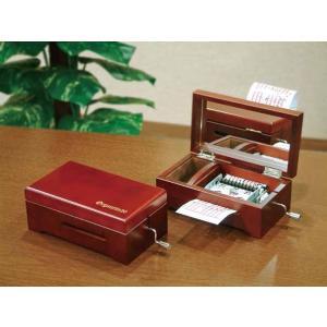 手回しオルゴール 20弁オルゴール 手回しオルガニート20 木製BOX (取り寄せ品 納期40日程度)|haciendaiyashi