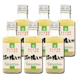 麹の甘酒 大豆麹 米麹 発酵飲料 糀の梅しずく 180ml 6本セット|hadaplan