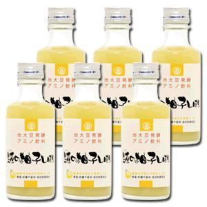 麹の甘酒 大豆麹 米麹 発酵飲料 糀の柚子しぼり 180ml 6本セット|hadaplan