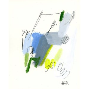 DUEALBERI | SMALL TALKS 19 (grey/blue/yellow) | A4 アートプリント/ポスター|hafen