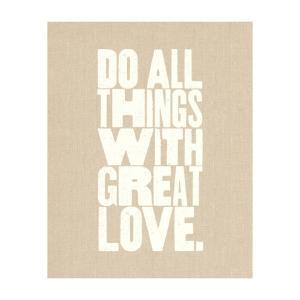 【ネコポス送料無料】THE LOVE SHOP | DO ALL THINGS WITH GREAT LOVE | A4 アートプリント/ポスター|hafen