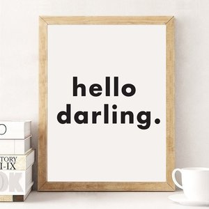 LOVELY POSTERS | HELLO DARLING | A3 アートプリント/ポスター|hafen