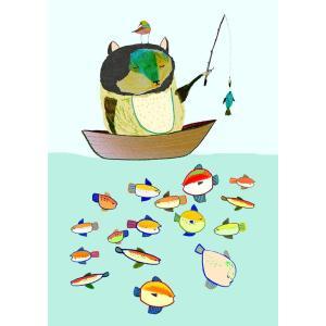ASHLEY PERCIVAL | GONE FISHING ART | A3 ポスター/アートプリント|hafen
