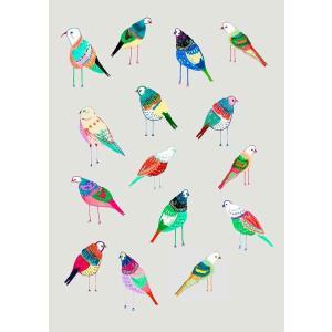 ASHLEY PERCIVAL | BIRDIES | A3 ポスター/アートプリント|hafen