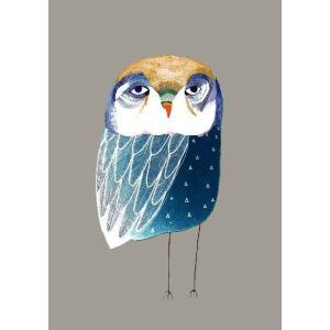 ASHLEY PERCIVAL | BLUE NIGHT OWL | A3 ポスター/アートプリント|hafen