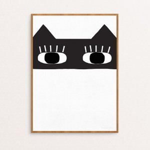 SEVENTY TREE   CAT BANDIT PRINT   30x40cm アートプリント/ポスター hafen