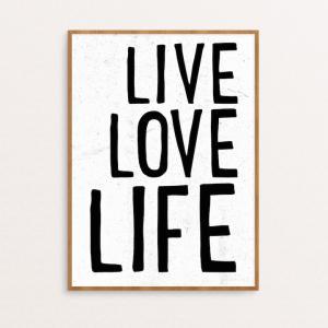 SEVENTY TREE   LIVE LOVE LIFE   30x40cm アートプリント/ポスター hafen