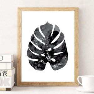 LOVELY POSTERS   MONSTERA LEAF (black)   A3 アートプリント/ポスター hafen