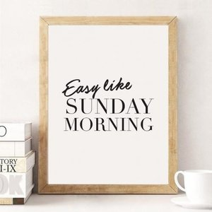 LOVELY POSTERS | SUNDAY MORNING (white) | A3 アートプリント/ポスター|hafen