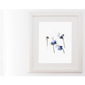 DUEALBERI | BLUE FLOWERS WATERCOLOR PRINT | A3 アートプリント/ポスター|hafen|02