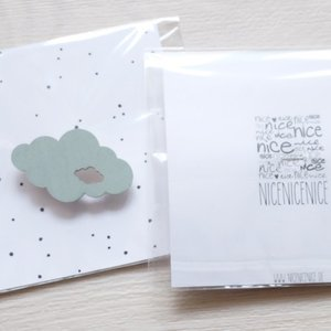 nicenicenice   WEATHER BROOCH CLOUD #2 (mint)   ブローチ hafen