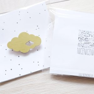 nicenicenice   WEATHER BROOCH CLOUD #2 (lime green)   ブローチ hafen