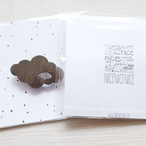 nicenicenice   WEATHER BROOCH CLOUD #2 (brown)   ブローチ hafen
