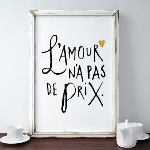 【ネコポス送料無料】THE LOVE SHOP | LOVE IS PRICELESS (L'AMOUR N'A PAS DE PRIX) | A4 アートプリント/ポスター|hafen