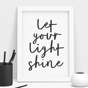 THE MOTIVATED TYPE | LET YOUR LIGHT SHINE | A3 アートプリント/ポスター|hafen
