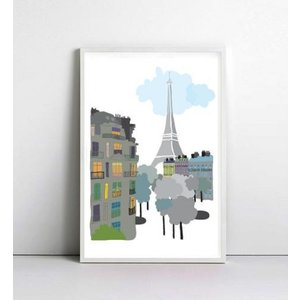 NICE MICE FOR YOU   PARIS EIFFEL TOWER #1   A4 アートプリント/ポスター