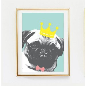LOVELY POSTERS | PUG KING | A3 アートプリント/ポスター|hafen