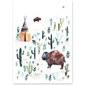 human empire bison poster 50x70cm ha116542592 hafen yahoo. Black Bedroom Furniture Sets. Home Design Ideas