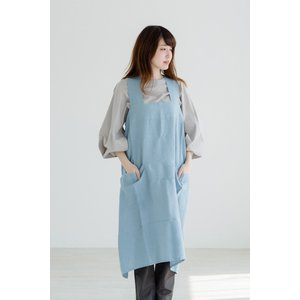 【ネコポス送料無料】not PERFECT LINEN | PINAFORE - SQUARE CR...