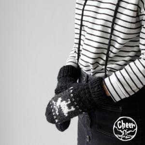 cheer | トナカイミトン (black) | 手袋|hafen