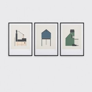 Tom Pigeon | TIN SHED (blue) | A3 アートプリント/ポスター|hafen|04