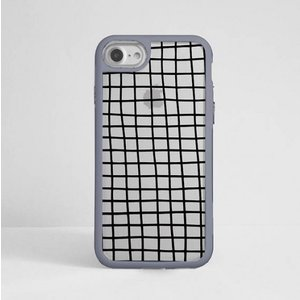 DESSI DESIGNS | CROSS STRIPES / GRID (clear/gray) | iPhone 7ケース|hafen