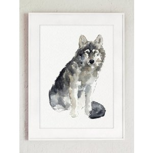 COLOR WATERCOLOR   Woodland Animals Art Print   A3 アートプリント/ポスター hafen