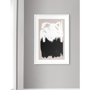 NOUROM | BEIGE AND BLACK ABSTRACT #1 | アートプリント/ポスター (50x70cm)|hafen