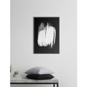 NOUROM | WHITE ON BLACK #1 | アートプリント/ポスター (50x70cm)|hafen