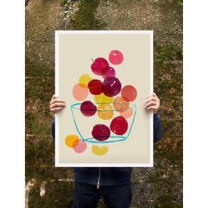 ANEK | PLUMS - SUMMER FRUIT ART | アートプリント/ポスター (50x70cm)