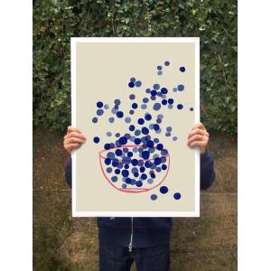 ANEK | BLUEBERRY - SUMMER FRUIT ART | アートプリント/ポスター (50x70cm)