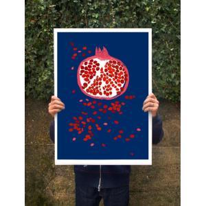 ANEK | INDIGO POMEGRANATE - FRUIT ART | アートプリント/ポスター (50x70cm)
