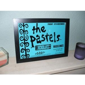 INDIEPRINTS | THE PASTELS&VASELINES | A4 アートプリント/ポスター (フレーム付き/210x297mm)|hafen
