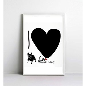 NICE MICE FOR YOU   I LOVE FRENCH BULLDOG   A4 アートプリント/ポスター