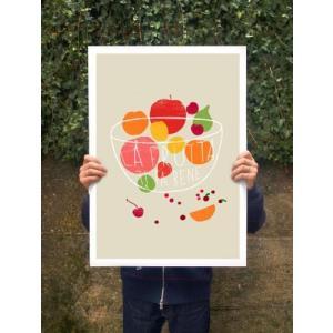 ANEK | LA FRUTTA - FRUIT ART | アートプリント/ポスター (50x70cm)