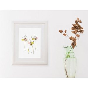 DUEALBERI | YELLOW PINK FLOWERS WATERCOLOR PRINT | A4 アートプリント/ポスター|hafen|02