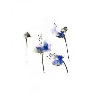 DUEALBERI | BLUE FLOWERS WATERCOLOR PRINT | A4 アートプリント/ポスター|hafen