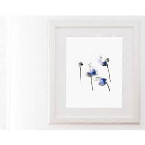 DUEALBERI | BLUE FLOWERS WATERCOLOR PRINT | A4 アートプリント/ポスター|hafen|02